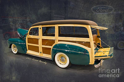 Street Rod Photograph - 1947 Ford Woody By Darrell Hutto by J Darrell Hutto