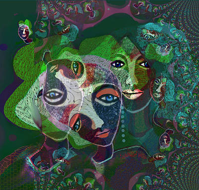 Digital Art - 1947 - Dimension Of Mind 2017 by Irmgard Schoendorf Welch