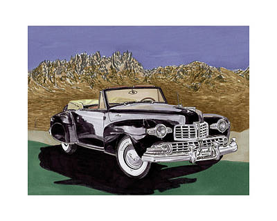 Painting - 1947 Lincoln Continental Mk I by Jack Pumphrey