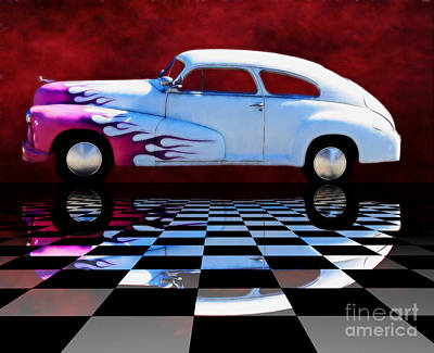 Digital Art - 1947 Oldsmobile Reflect by Suzanne Handel