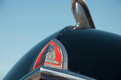 Photograph - 1947 Plymouth Head Badge by Chris Flees