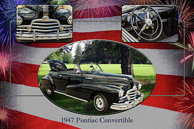 Photograph - 1947 Pontiac Convertible Photograph 5544.01 by M K Miller