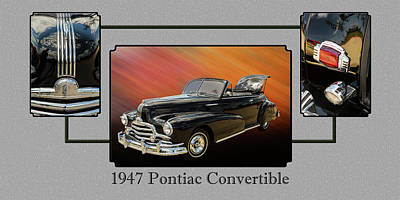 Photograph - 1947 Pontiac Convertible Photograph 5544.02 by M K Miller