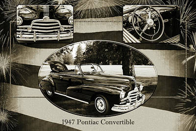 Photograph - 1947 Pontiac Convertible Photograph 5544.50 by M K Miller
