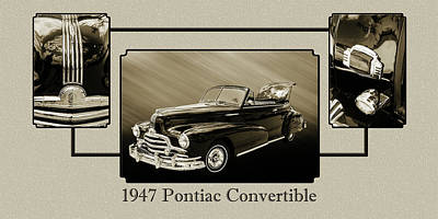 Photograph - 1947 Pontiac Convertible Photograph 5544.51 by M K Miller