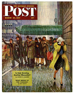 Drawing - 1947 Saturday Evening Post Magazine Cover by Allen Beilschmidt