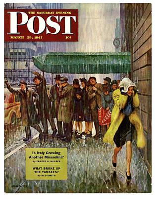 1947 Saturday Evening Post Magazine Cover Art Print