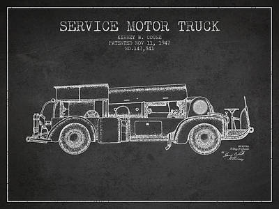 Katharine Hepburn - 1947 Service Motor Truck Patent - Charcoal by Aged Pixel
