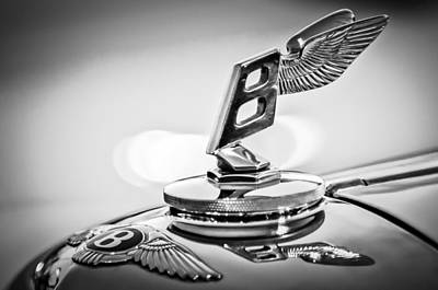 Photograph - 1948 Bentley Hood Ornament 2 by Jill Reger