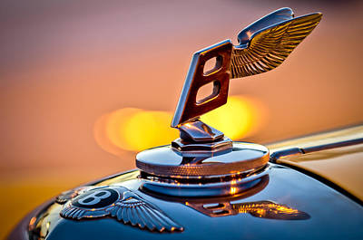 Photograph - 1948 Bentley Hood Ornament by Jill Reger