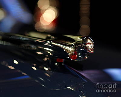 Photograph - 1948 Cadillac Coupe Hood Ornament by Wingsdomain Art and Photography