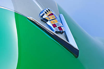 Photograph - 1948 Cadillac Emblem by Jill Reger