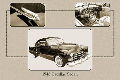 Photograph - 1948 Cadillac Sedan Classic Car Photograph 6723.01 by M K Miller