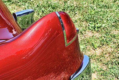 Photograph - 1948 Cadillac Tail Light # 2 by Allen Beatty