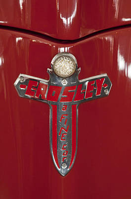 Photograph - 1948 Crosley Convertible Emblem by Jill Reger