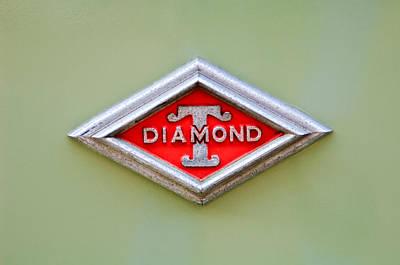 Photograph - 1948 Diamond T Emblem -ck0879c by Jill Reger