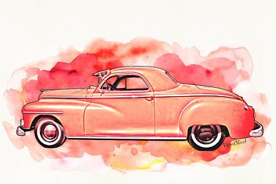 1948 Dodge Coupe As Seen In Luckenbach Texas By Vivachas Art Print