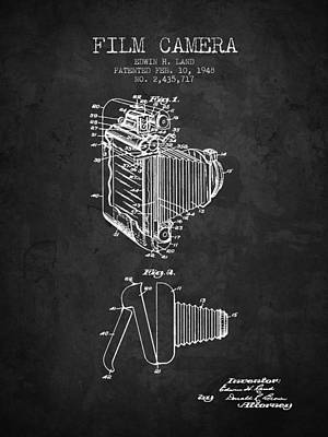 1948 Film Camera Patent - Charcoal - Nb Art Print