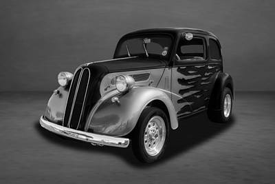 Photograph - 1948 Ford Anglia Sedan  -  Fdangbw111 by Frank J Benz