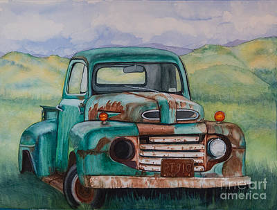Painting - 1948 Ford Pickup Rusty Gem  by DJ Laughlin