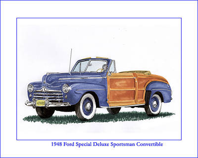 Painting - 1948 Ford Sportsman Convertible by Jack Pumphrey