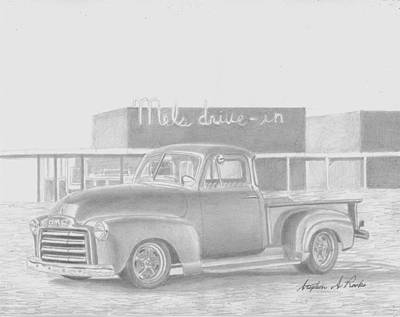 1948 Gmc Pickup Truck Art Print Original