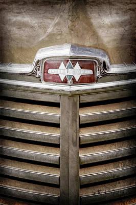 Photograph - 1948 International Hood Emblem -0227ac by Jill Reger