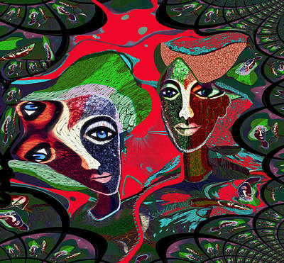 Digital Art - 1948 - Lust For Shape And Colour 2017 by Irmgard Schoendorf Welch