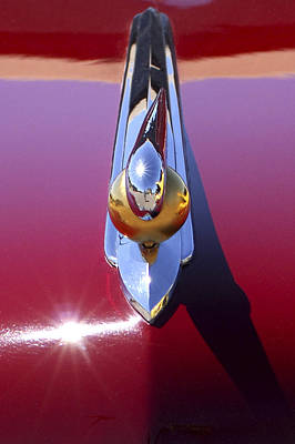 Photograph - 1948 Lincoln Continental Hood Ornament by Jill Reger