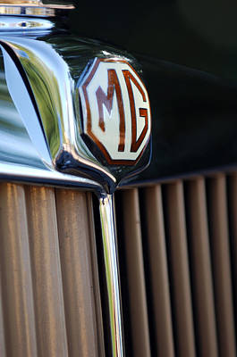 Photograph - 1948 Mg Tc Grille by Jill Reger