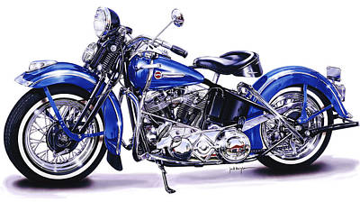 Painting - 1948 Panhead by Jack Knight