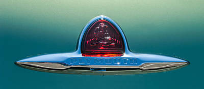 Plymouth Car Photograph - 1948 Plymouth Coupe Emblem -0190c by Jill Reger