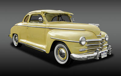 Photograph - 1948 Plymouth Special Deluxe Coupe  -  1948plycoupefa9897 by Frank J Benz