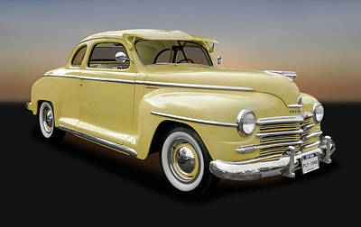 Photograph - 1948 Plymouth Special Deluxe Coupe  -  1948plyspcpe9897 by Frank J Benz