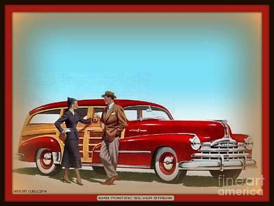 Woodies Mixed Media - 1948 Pontiac Silver Streak Woody by Dwight Goss
