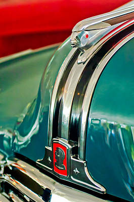 Photograph - 1948 Pontiac Streamliner Woody Wagon Hood Ornament by Jill Reger