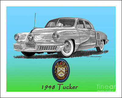 Painting - 1948 Tucker by Jack Pumphrey