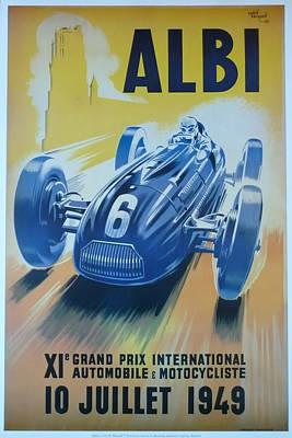 1949 Digital Art - 1949 Albi Grand Prix  by Georgia Fowler