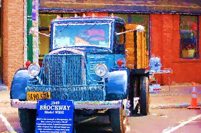 Photograph - 1949 Brockway Model Wh88 by David Lane