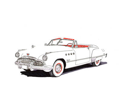 Painting - 1949 Buick Roadmaster Convertible by Jack Pumphrey