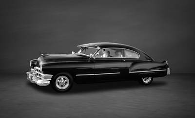 1949 Cadillac  -  3bw Art Print