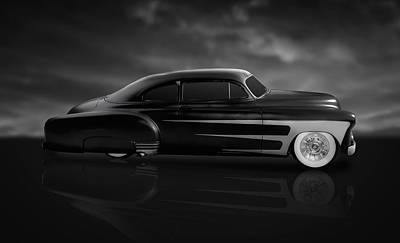 Photograph - 1949 Cadillac Coupe On A Midnight Cruise by Frank J Benz