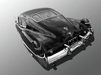 Photograph - 1949 Cadillac Sedanette In Mono by Gill Billington