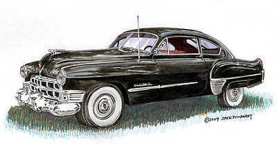 Painting - 1949 Cadillac Sedanette by Jack Pumphrey