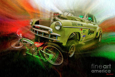 Photograph - 1949 Chevy Bus Coupe by Blake Richards