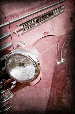 Photograph - 1949 Diamond T Truck Emblem -0089ac by Jill Reger