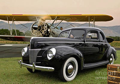 1949 Ford Coupe, Boeing - Stearman Biplane, The Most Interesting Man In The World ' Opening Scene  Art Print