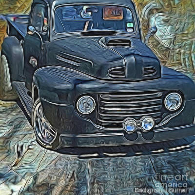 Photograph - 1949 Ford F100 Truck by Diana Mary Sharpton
