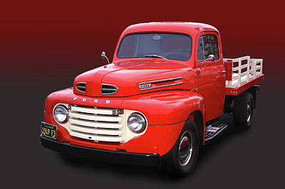 Photograph - 1949 Ford F3 Stake by Bill Dutting
