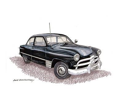 Painting - 1949 Ford Two Door Sedan by Jack Pumphrey